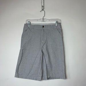 Boys 14/16 Blue White Box Print Shorts Buzz Cuts
